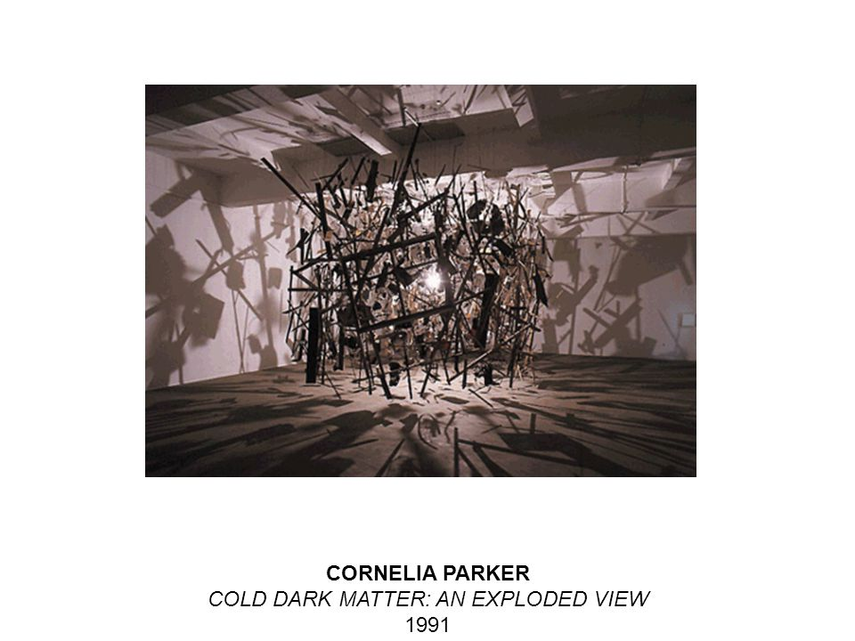 CORNELIA PARKER COLD DARK MATTER: AN EXPLODED VIEW 1991