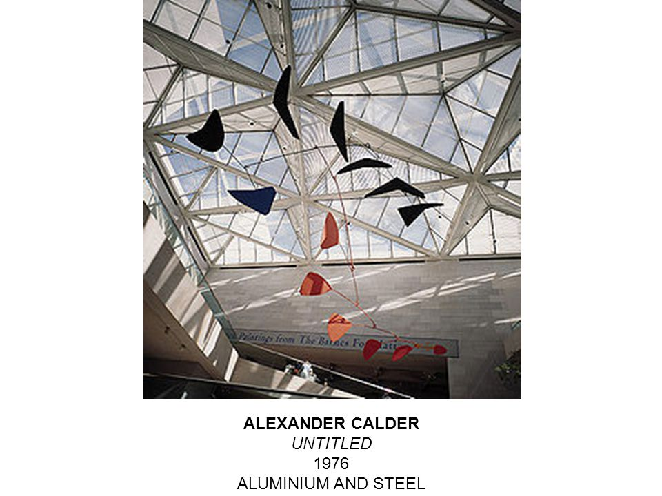 ALEXANDER CALDER UNTITLED 1976 ALUMINIUM AND STEEL