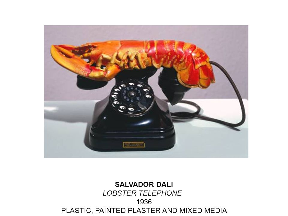 SALVADOR DALI LOBSTER TELEPHONE 1936 PLASTIC, PAINTED PLASTER AND MIXED MEDIA