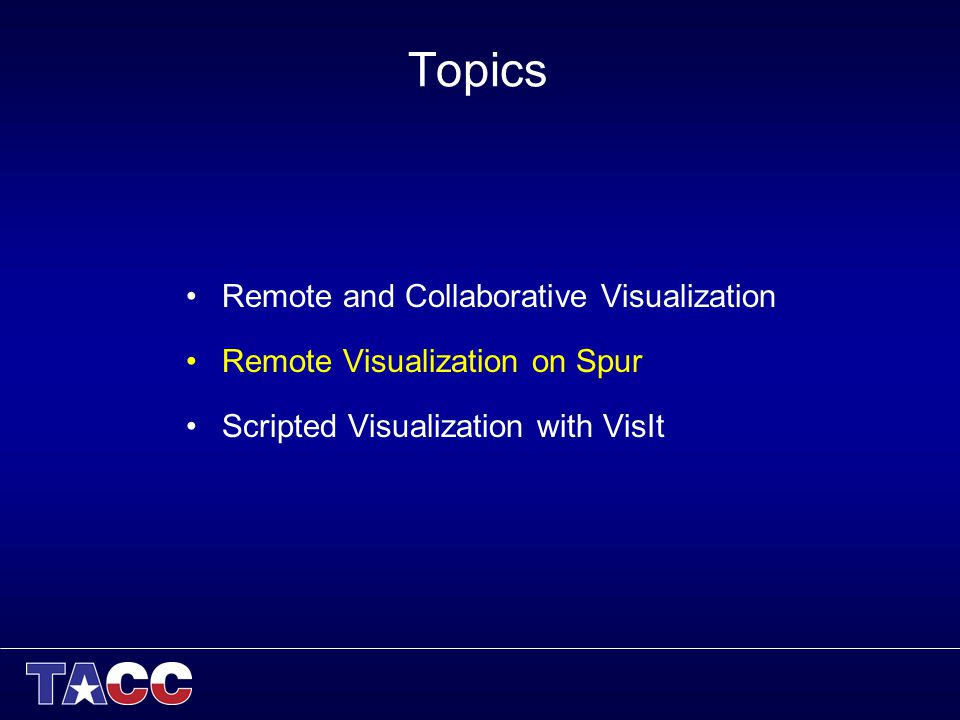 Advanced Scientific Visualization Laboratory Paul Navrátil