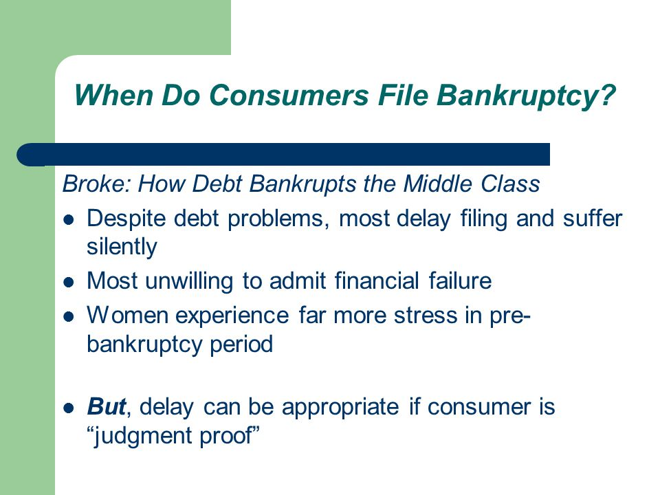 When Do Consumers File Bankruptcy.