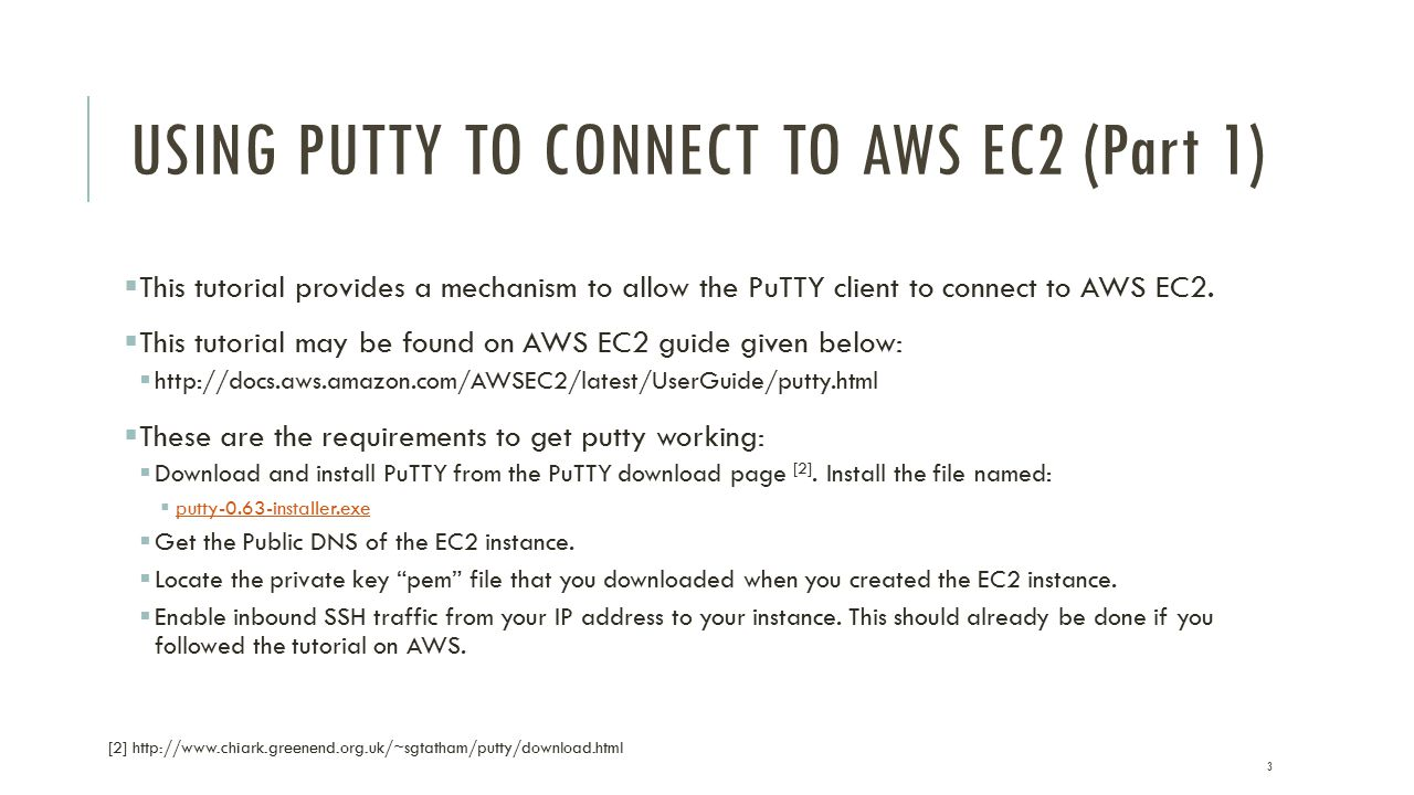 USING PUTTY TO CONNECT TO AWS EC2 Anshuman Biswas  - ppt