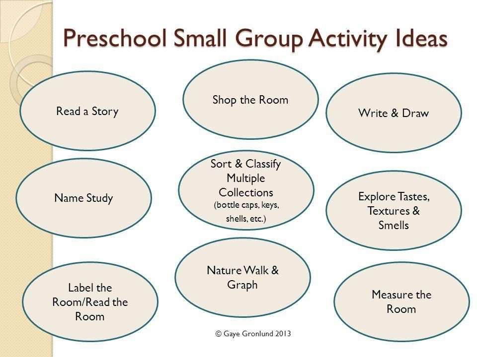 16 Preschool Small Group Activity Ideas