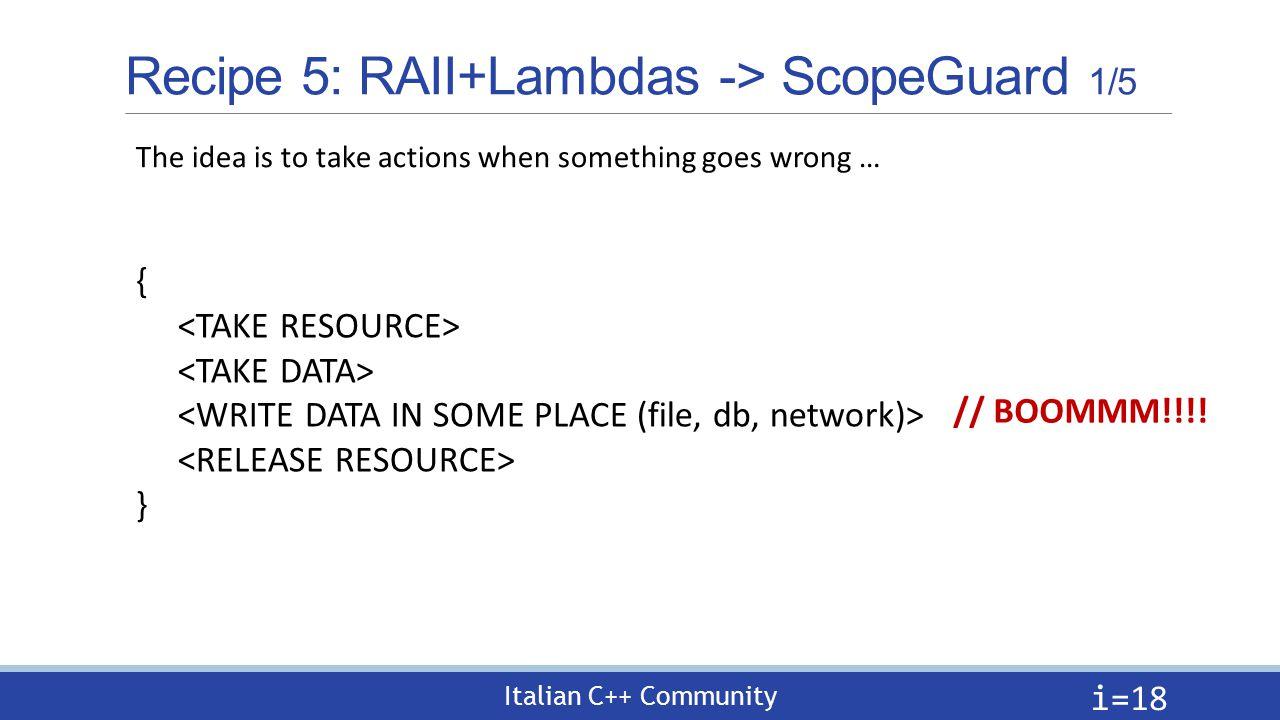 Lambdas Recipes in C++11/14 Gian Lorenzo Meocci 28 Giugno Milano