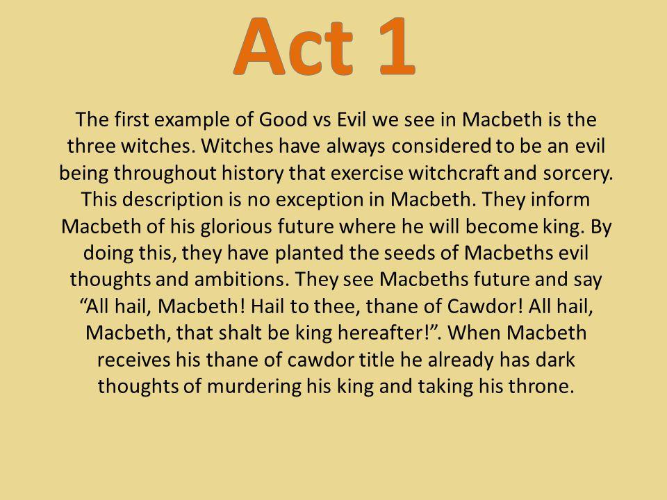 how is macbeth evil