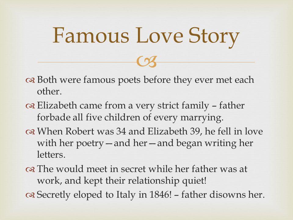 Elizabeth Barrett (1806 – 1861) Robert Browning ( ) - ppt download