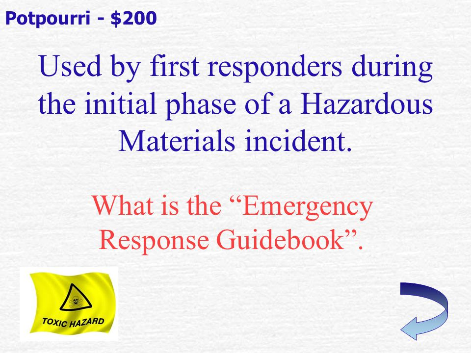 What is the NFPA 704 System . Potpourri - $100