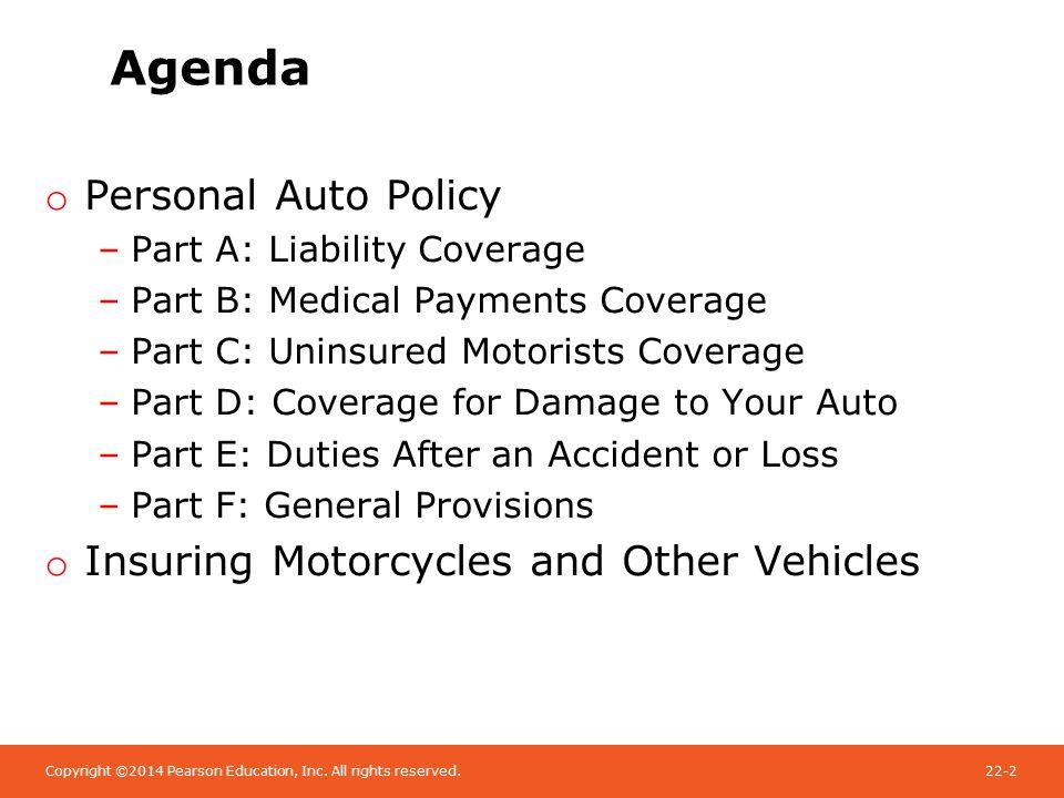 Auto Insurance Coverage A B C D