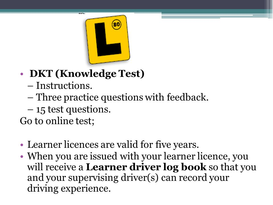 Driving Knowledge Test Book