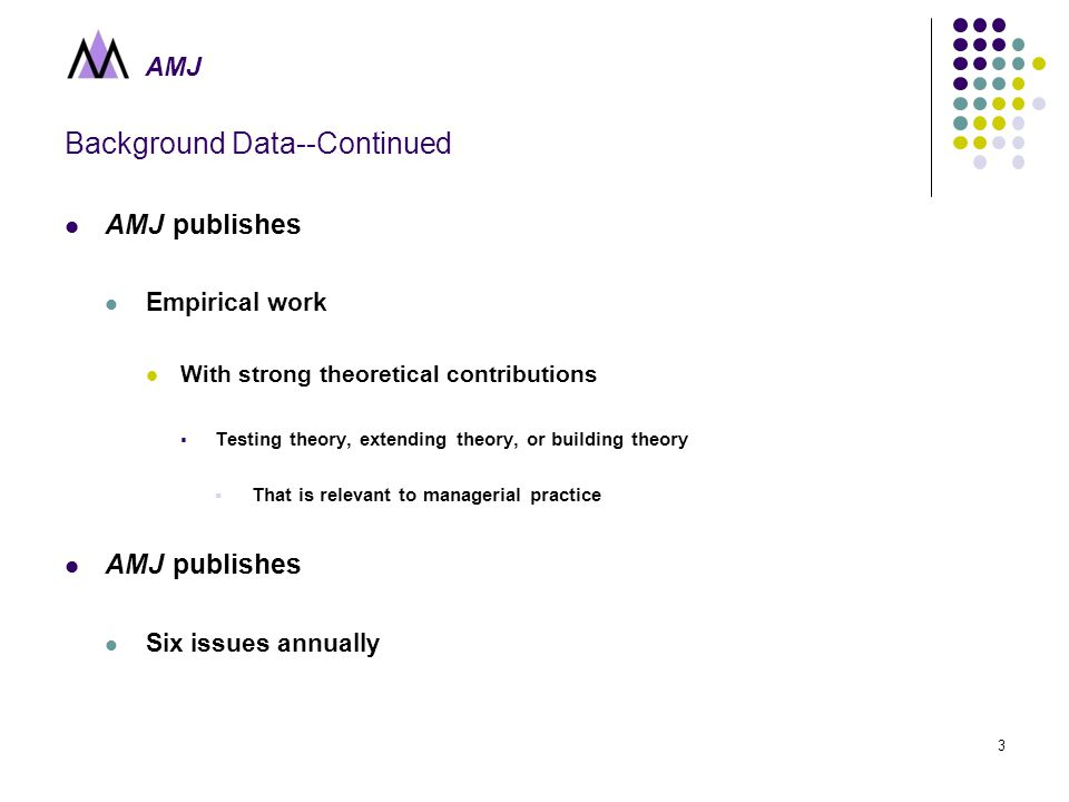 AMJ 1 Academy of Management Journal Academy of Management