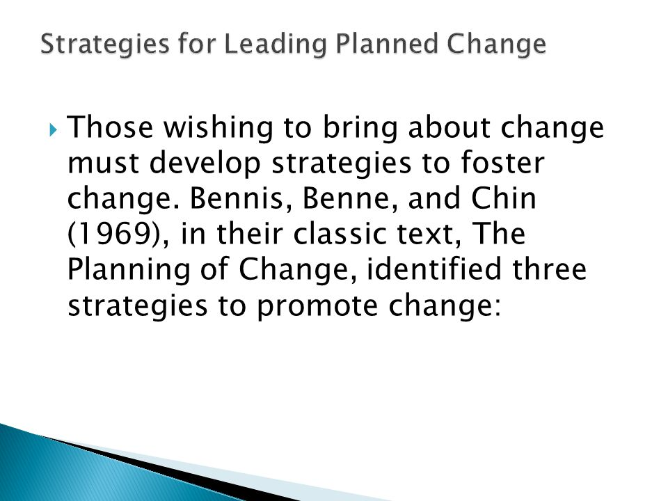 change management strategies by chin and benne 1969