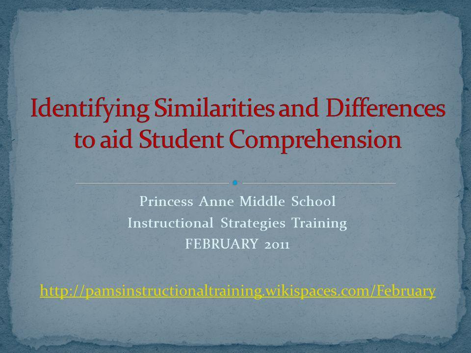 Princess Anne Middle School Instructional Strategies Training
