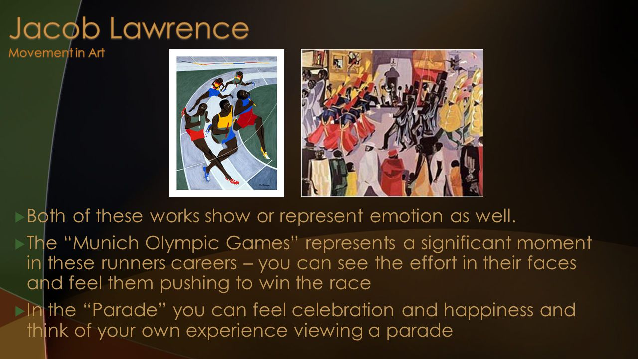  Both of these works show or represent emotion as well.