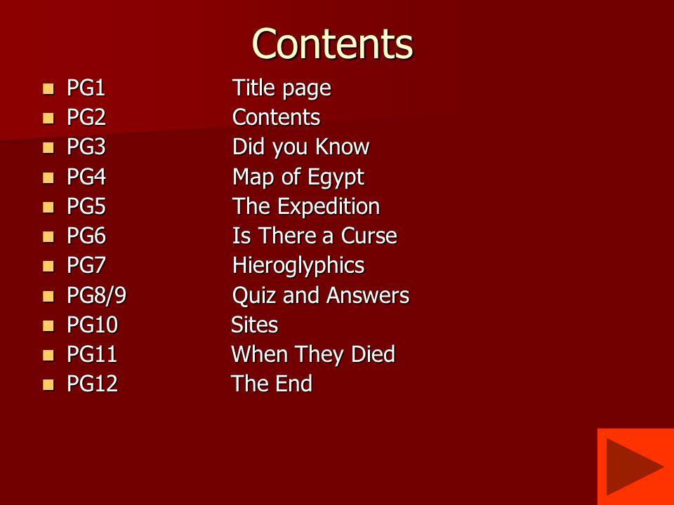 quality design 4a1ea 3618a The curse of Tutankhamen by Ross and Brandon. Contents PG1 ...