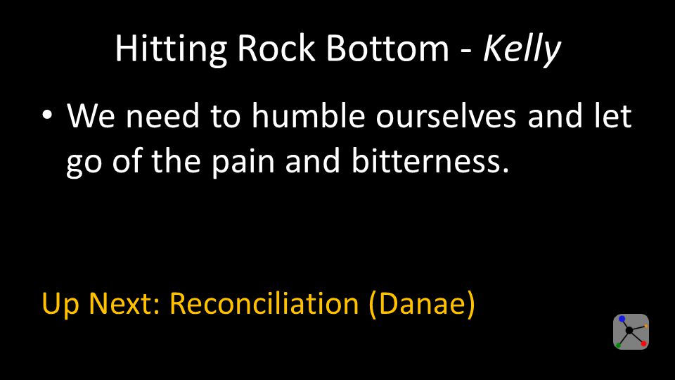 Hitting Rock Bottom - Kelly We need to humble ourselves and let go of the pain and bitterness.