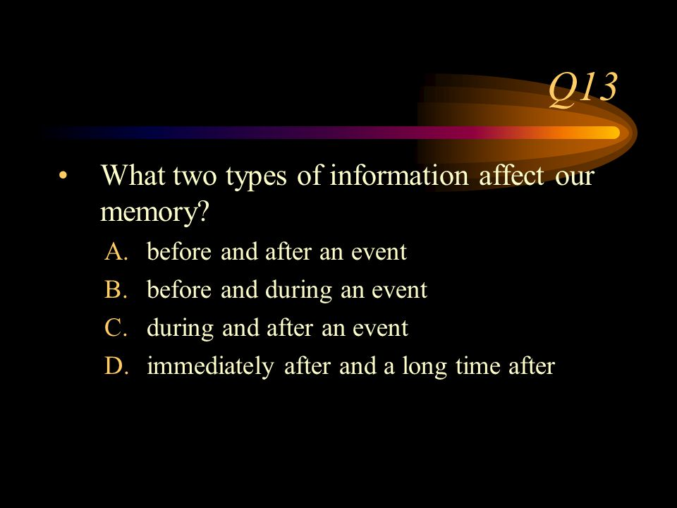 Q12 What did Loftus and Palmer conclude about leading questions.
