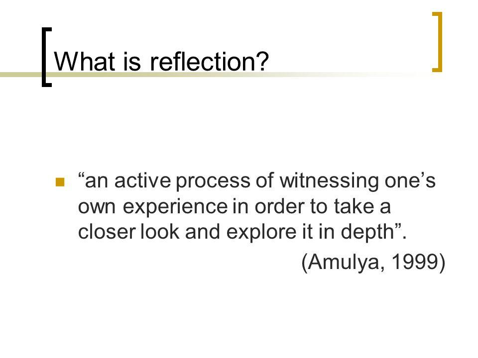 reid 1993 reflection