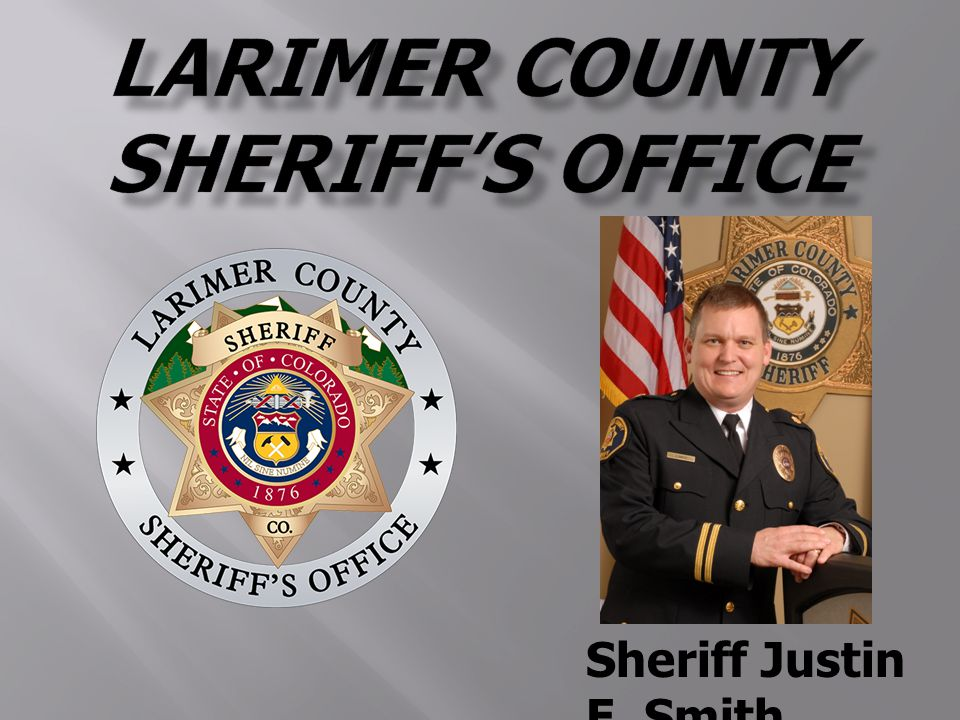 Sheriff Justin E  Smith   Law Enforcemen t  Keeper of the Jail