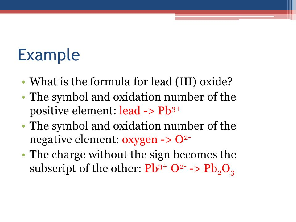 Writing And Naming Compounds Writing Compounds To Write A Formula