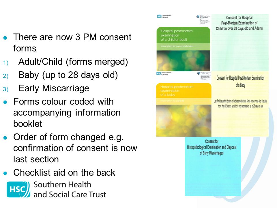 Introduction of the updated DHSSPS consent forms