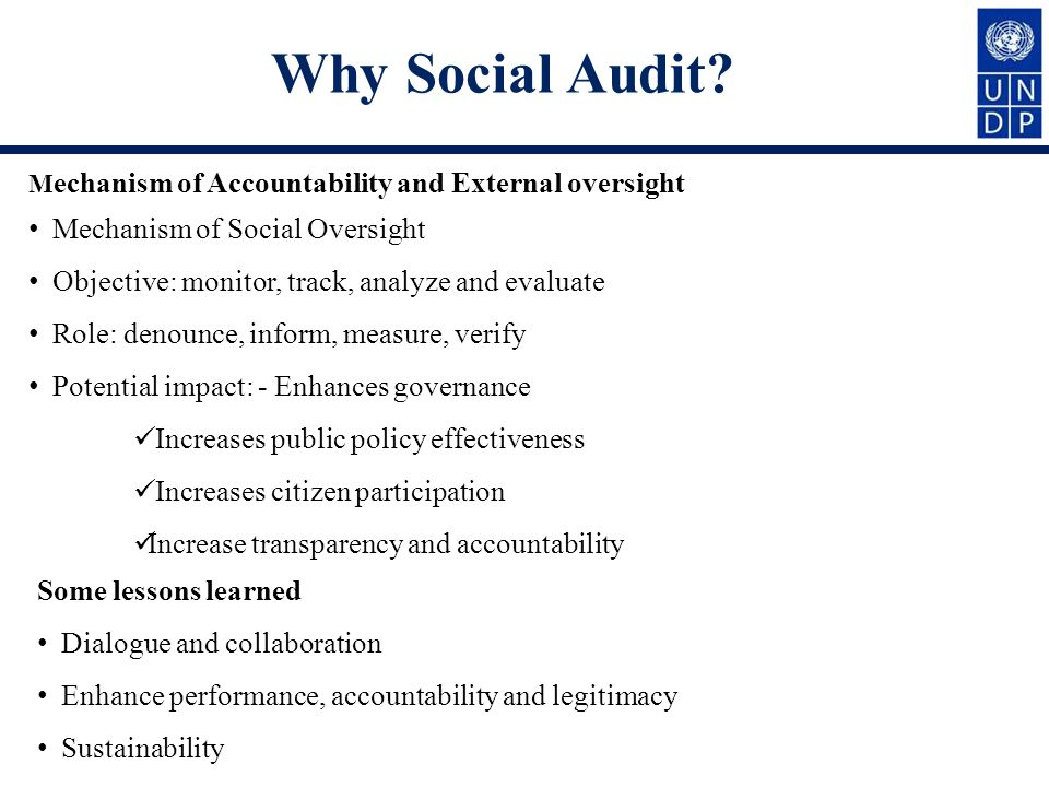 Why Social Audit.