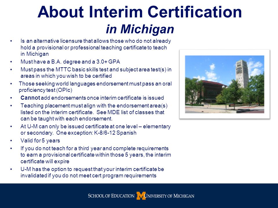 Interim Certification Program For Teach For America Detroit Corps