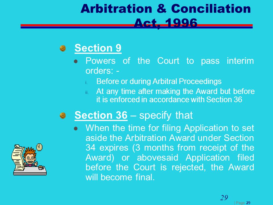 Page Arbitration Conciliation Act 1996 Section 9 Powers Of The Court To Pass