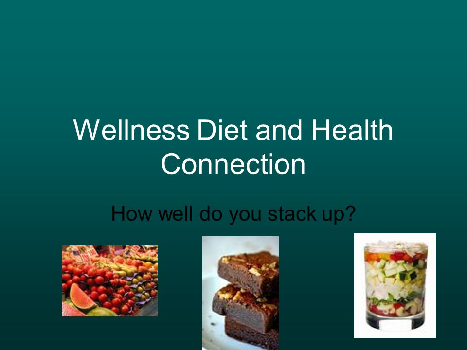 Wellness Diet and Health Connection How well do you stack up