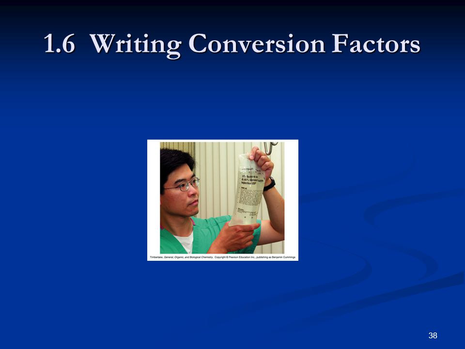 Writing Conversion Factors