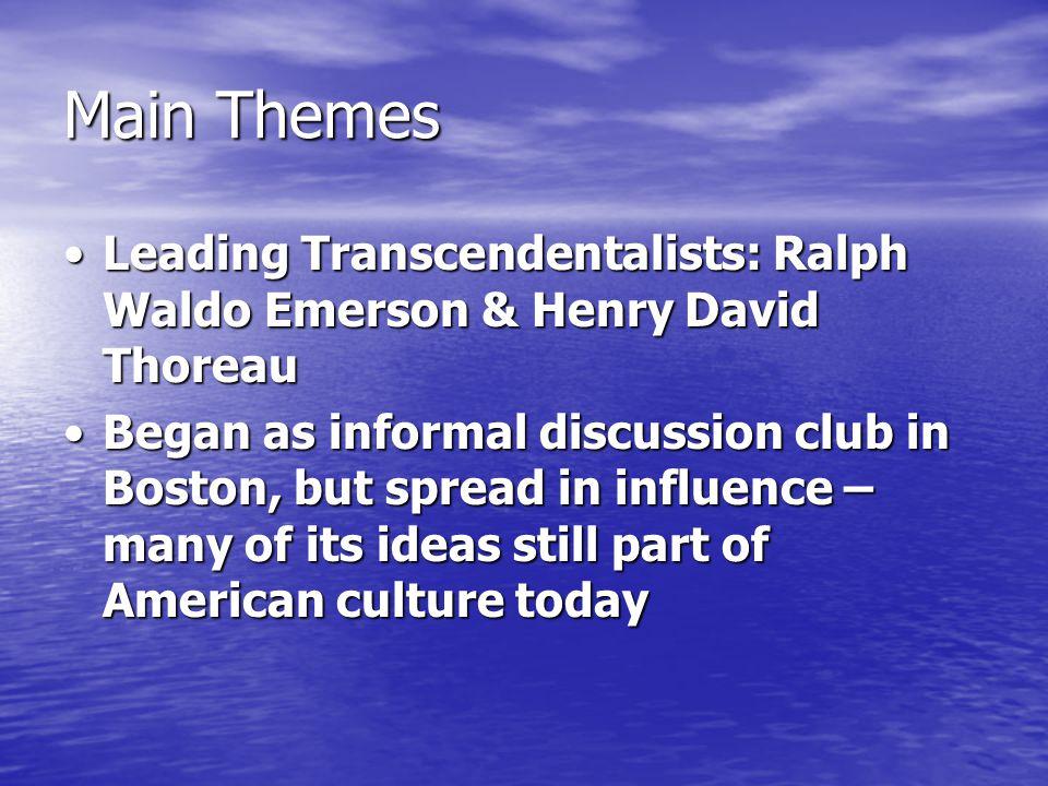 walden transcendentalism