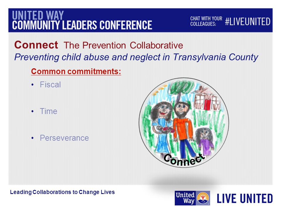 Connect The Prevention Collaborative Preventing child abuse and neglect in Transylvania County Common commitments: Fiscal Time Perseverance
