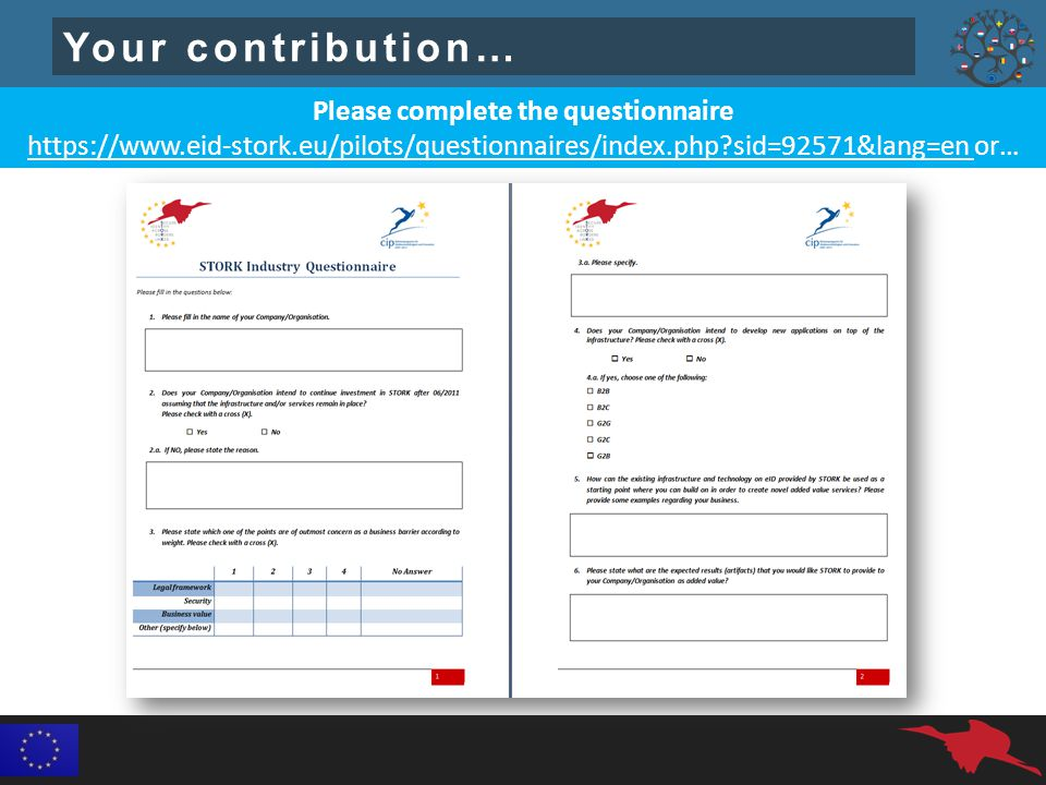 Your contribution… Please complete the questionnaire   sid=92571&lang=en or…