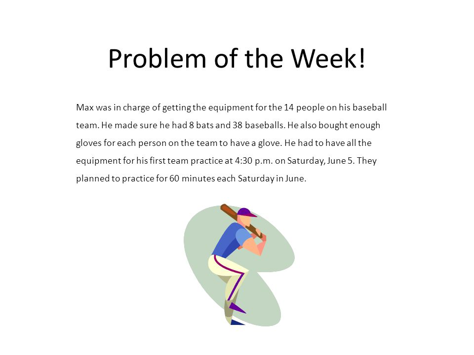 Problem of the Week.