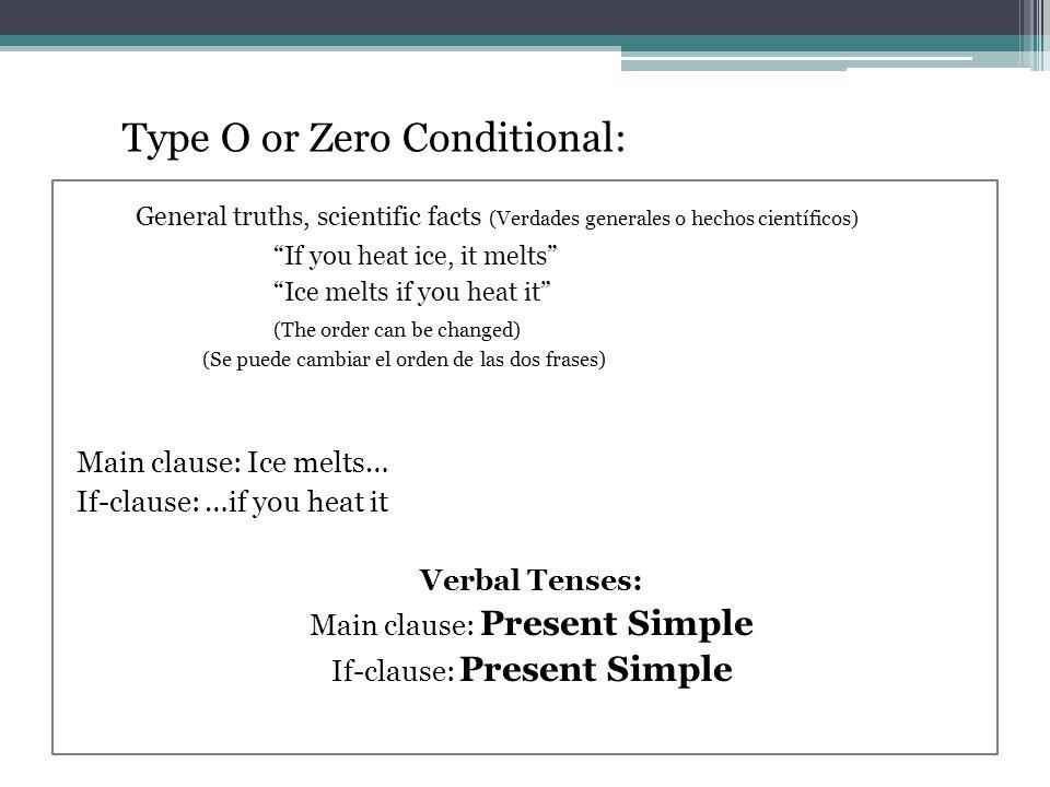 Conditional Sentences Oraciones Condicionales Versión