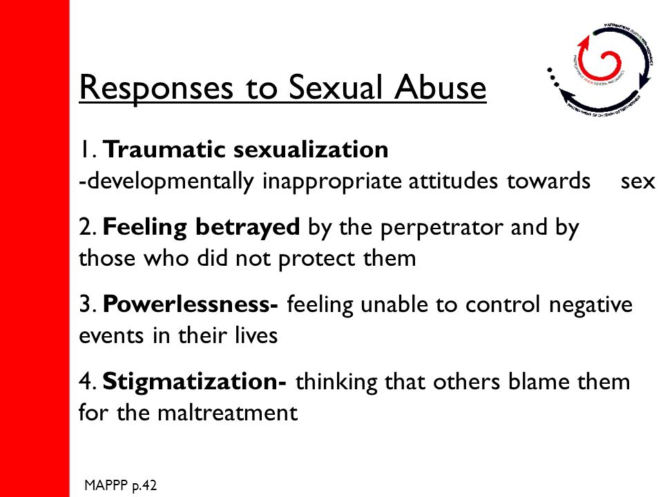 Responses to Sexual Abuse 1.