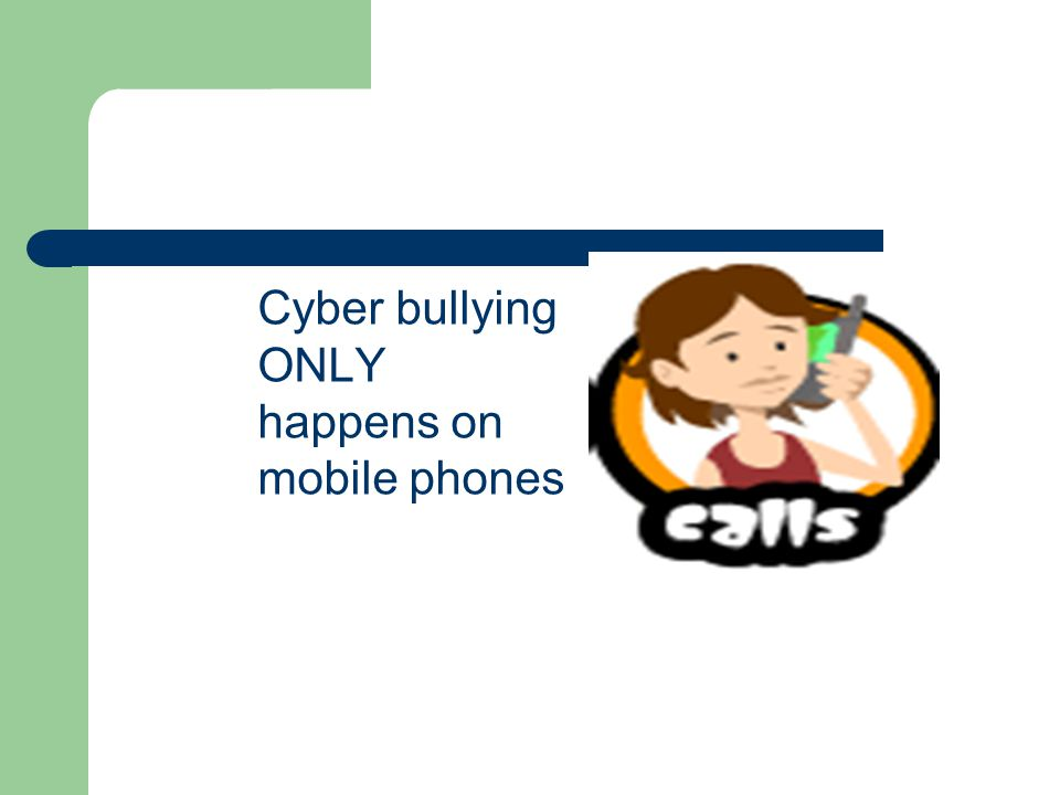 Cyber bullying ONLY happens on mobile phones