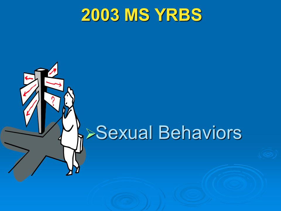 2003 MS YRBS  Sexual Behaviors