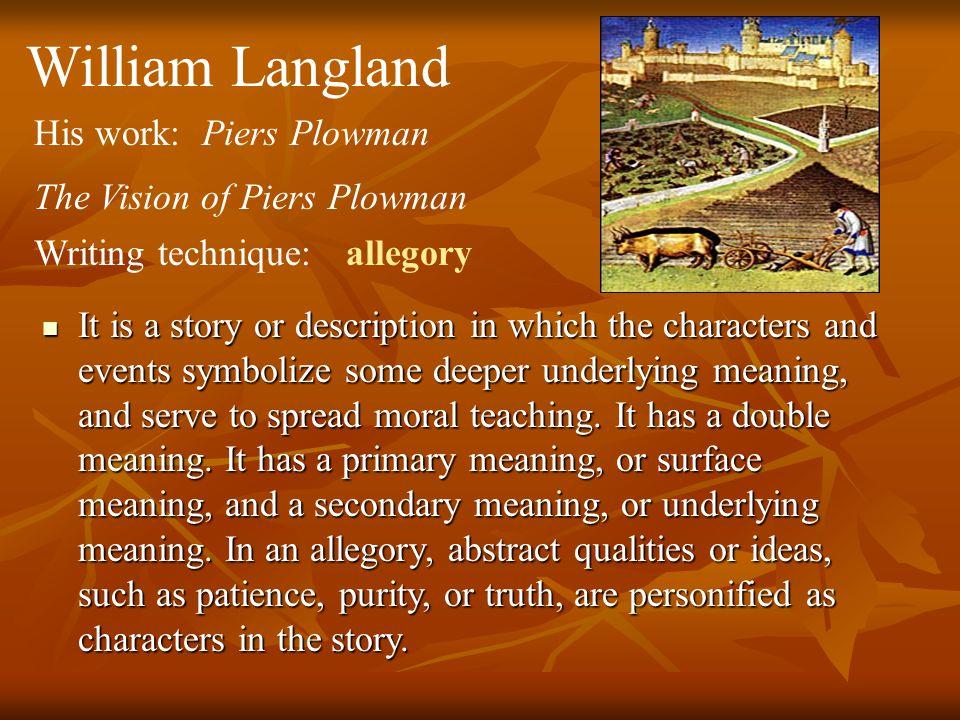 allegory of piers plowman