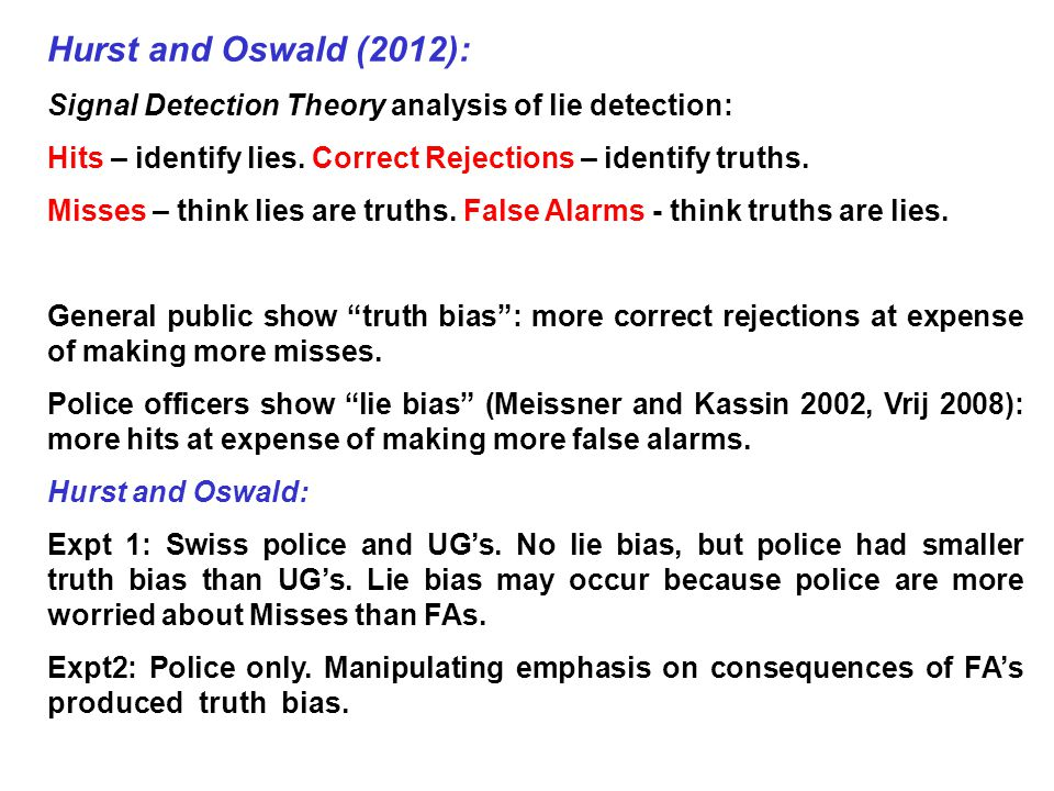 lie detection essay Lie detection took on aspects of modern science with the development in the 20th century of techniques intended for the psychophysiological detection of deception, most prominently, polygraph testing.