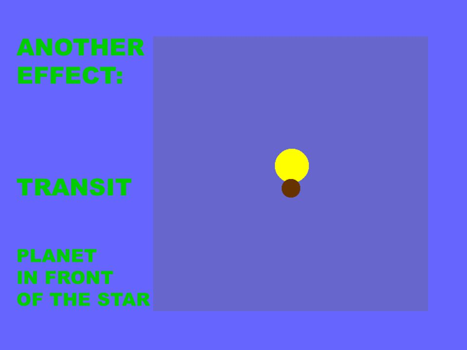 ANOTHER EFFECT: TRANSIT PLANET IN FRONT OF THE STAR
