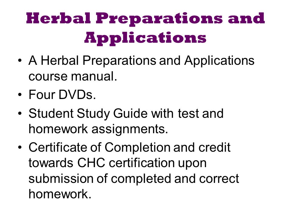 Certified Herbal Consultant Chc Certification Training Program