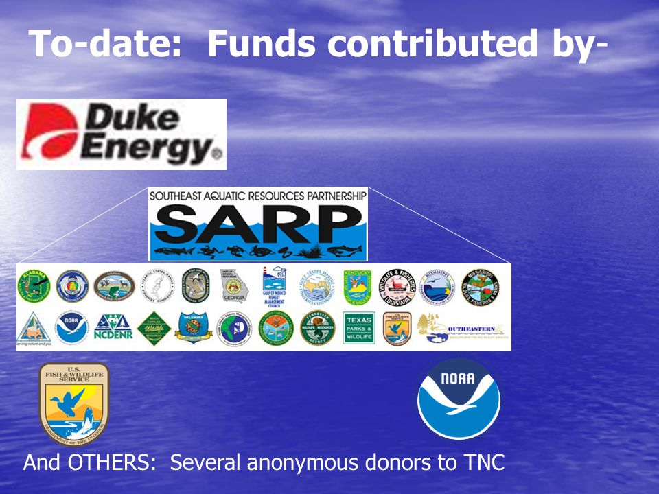 To-date: Funds contributed by- And OTHERS: Several anonymous donors to TNC