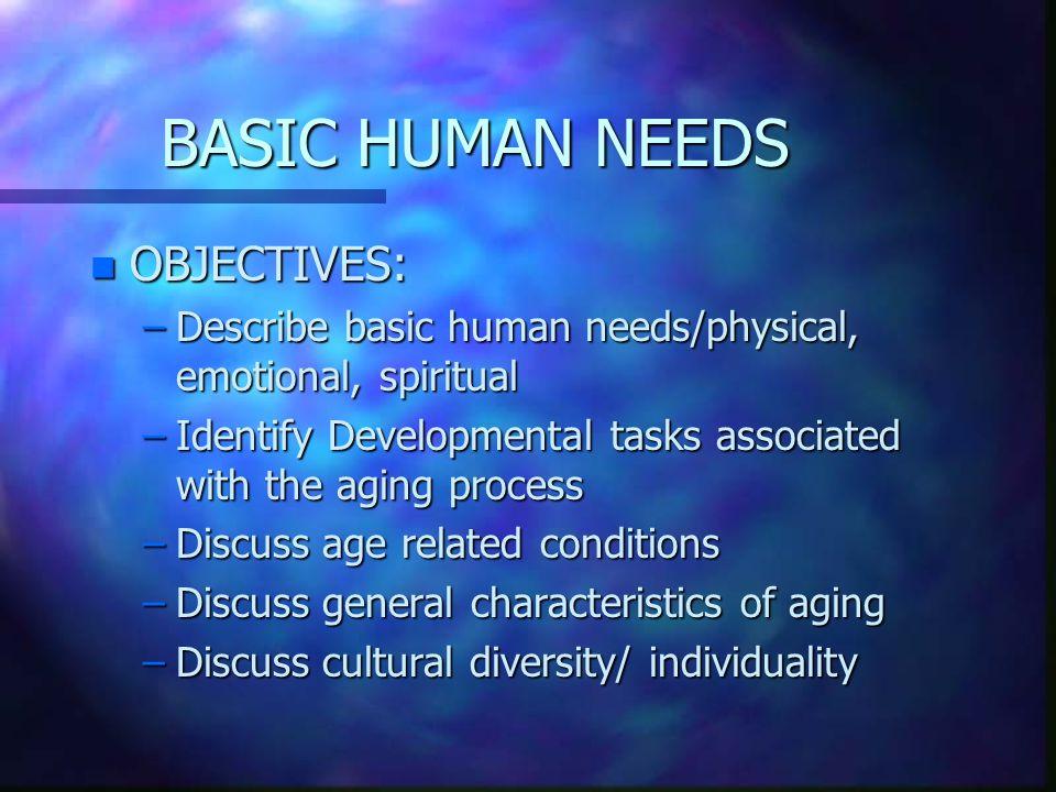 Basic Human Needs Unit Two 2 Basic