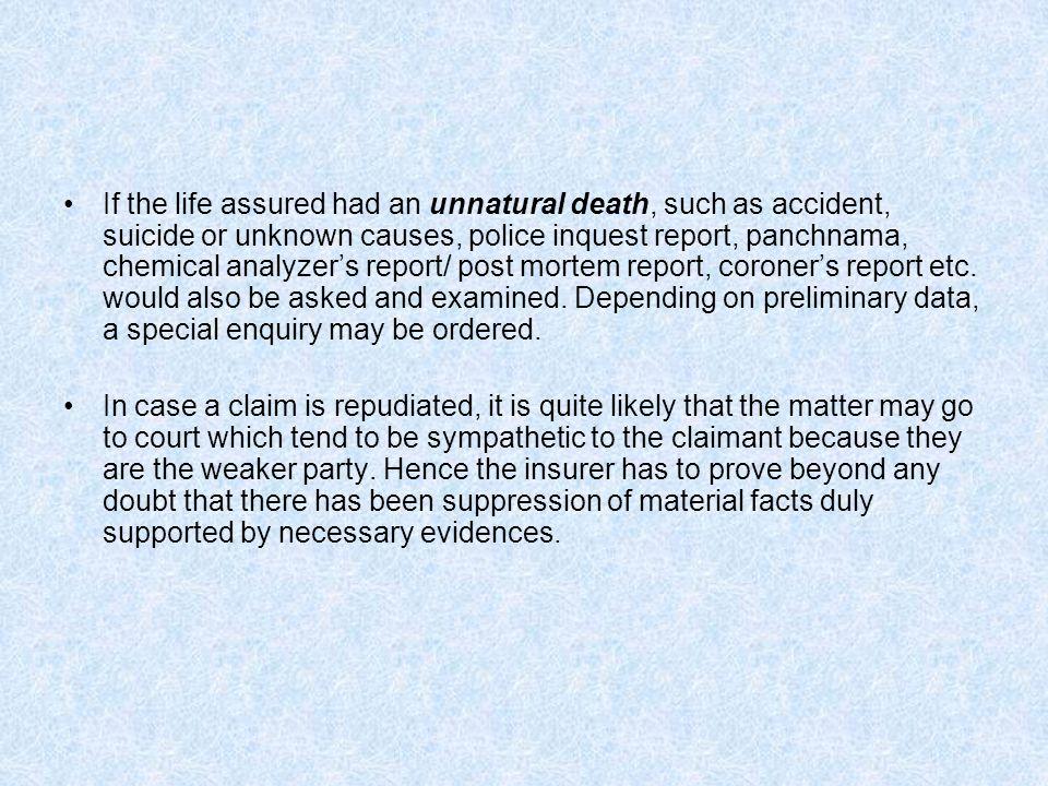 inquest report format