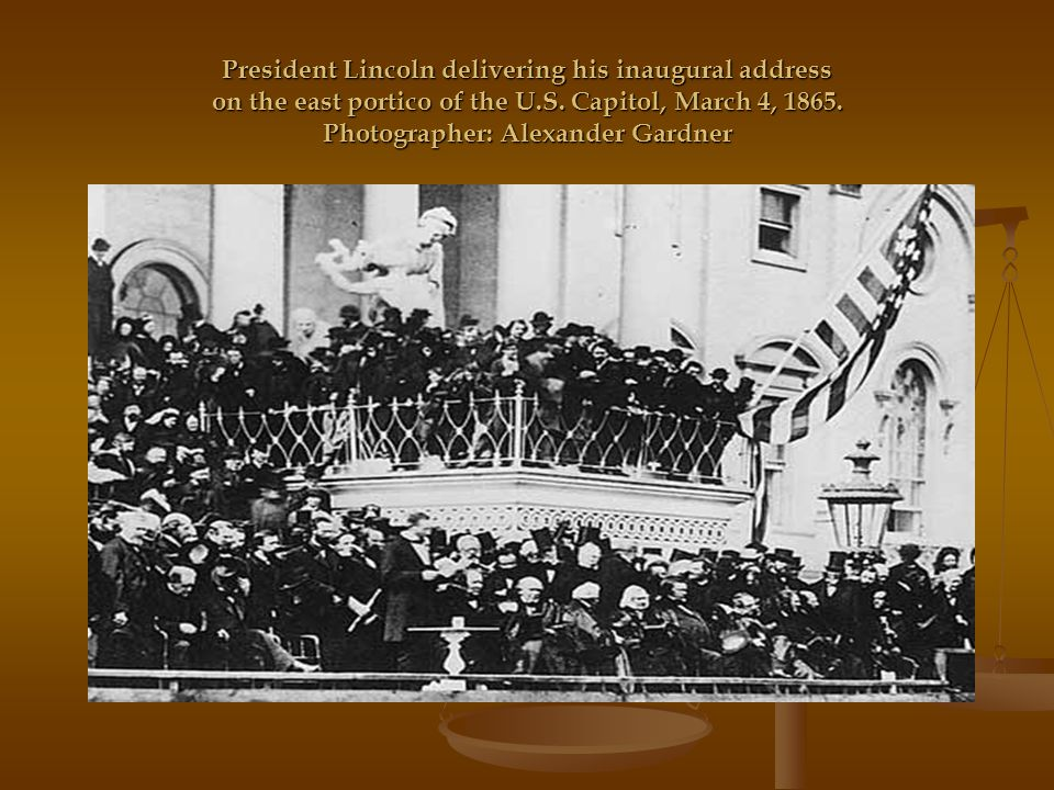 english second inaugural address of abraham An analysis of abraham lincoln's second inaugural address in president lincoln's second inaugural speech, the president reminds the citizens that they should move forward, away from the civil war, but look back, to note on the significance of the bloodiest war in american history they should also.