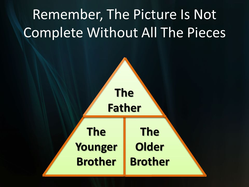 Remember, The Picture Is Not Complete Without All The Pieces TheFather TheYoungerBrotherTheOlderBrother