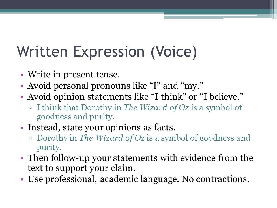 personal pronouns in essays