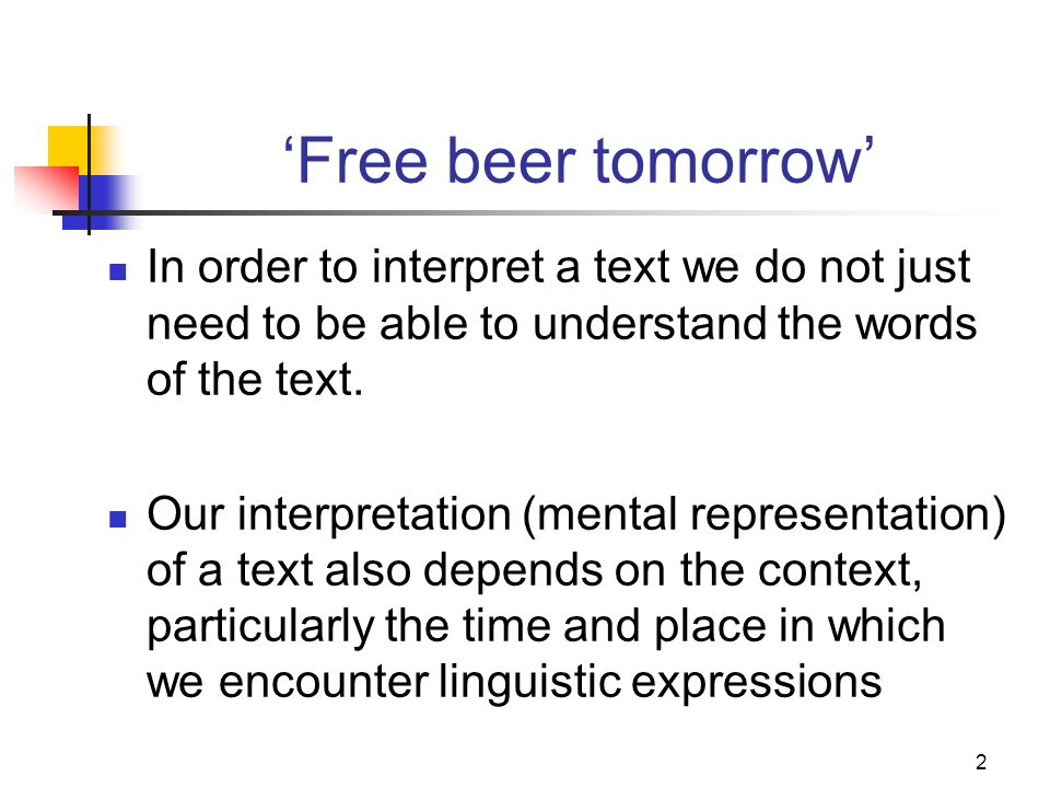 1 Context Inference Lessons Module 2 Meaning And Discourse In English Ppt Download