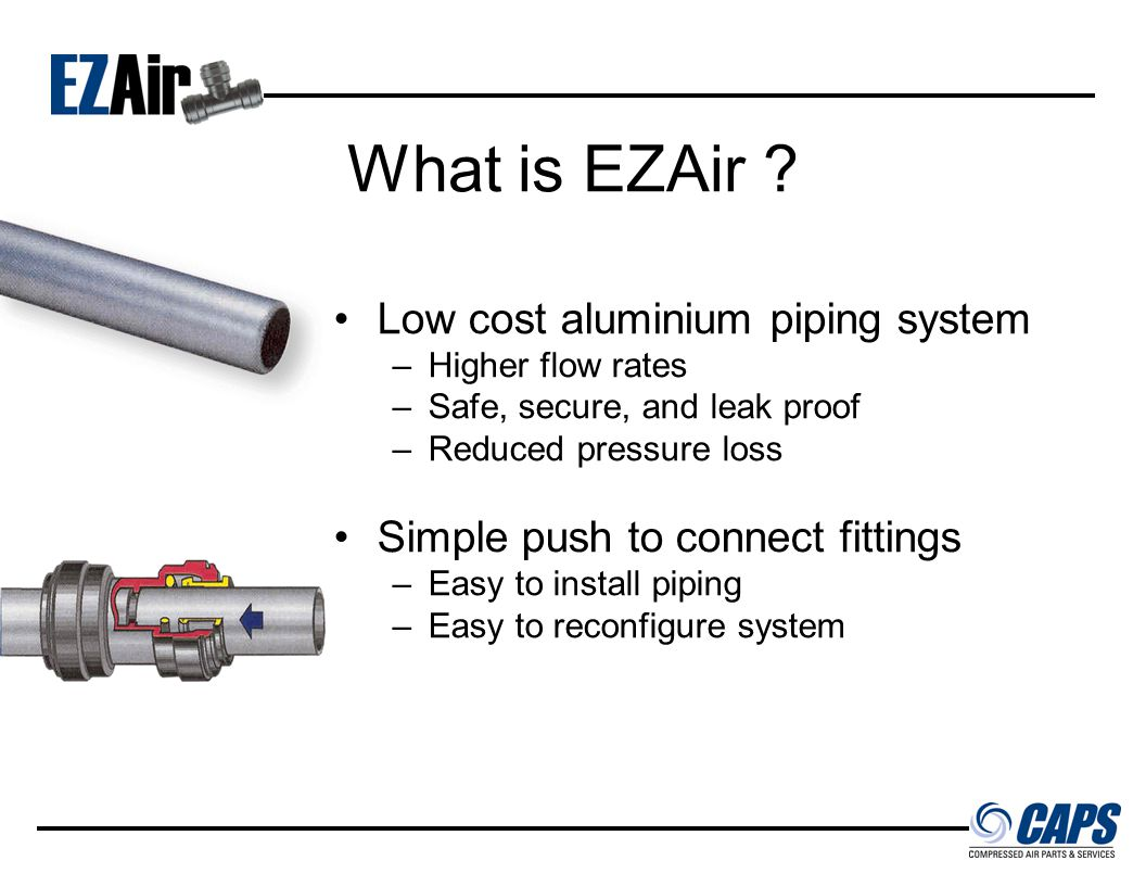 Finally, a compressed air piping system so simple…it's EZ