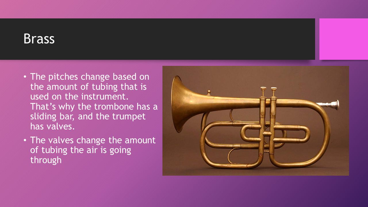 music appreciation brass. there are multiple types of brass